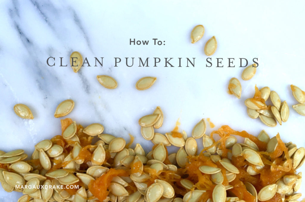 clean pumpkin seeds